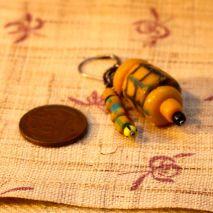 African trade bead earrings, banana - $15