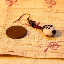 Glass bug earrings, black and brown – $10