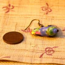 Porcelain rooster earrings – $10