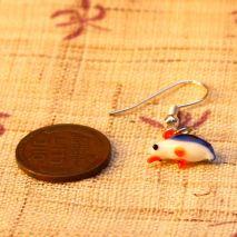 Tiny glass quail earrings – $4