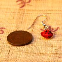 Tiny glass watermelon earrings – $4