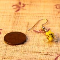 Tiny glass bee earrings – $4