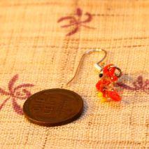 Tiny glass parrot earrings – $4