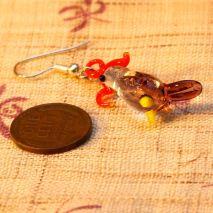 Glass parrot earrings – $6