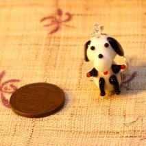 Glass trained dog earrings – $6