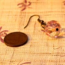 Vintage glass earrings, pinkish – $10