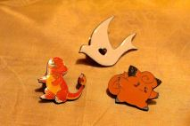 Miscellaneous pins, charmander is scratched $5 for 3