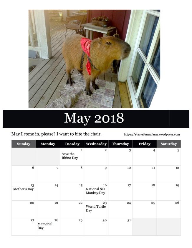 2018 may SFF calendar